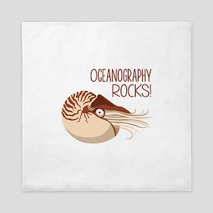 Oceanography Rocks! Queen Duvet
