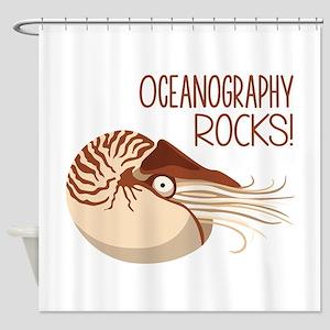 Oceanography Rocks! Shower Curtain