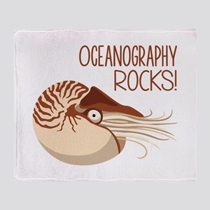 Oceanography Rocks! Throw Blanket