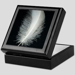 Silver Feather Keepsake Box