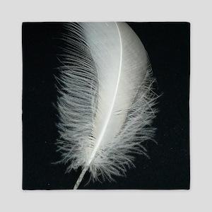 Silver Feather Queen Duvet