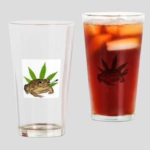 Toad Smoking Drinking Glass