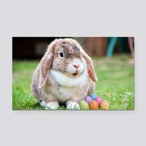 Easter Bunny Rabbit Rectangle Car Magnet