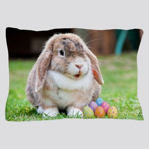 Easter Bunny Rabbit Pillow Case