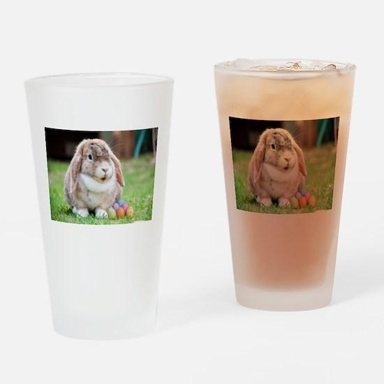 Easter Bunny Rabbit Drinking Glass