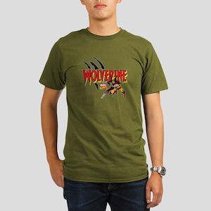 Wolverine Slash Organic Men's T-Shirt (dark)