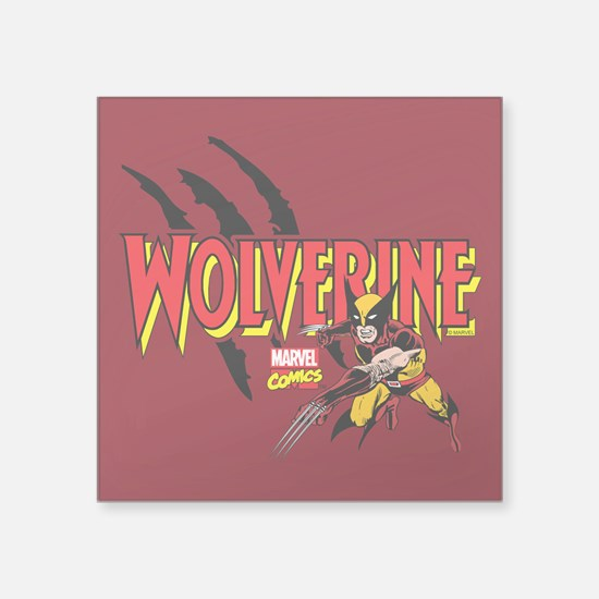 "Wolverine Slash Square Sticker 3"" x 3"""