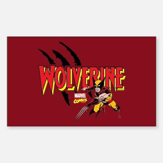 Wolverine Slash Sticker (Rectangle)