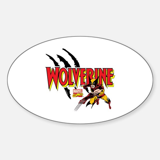 Wolverine Slash Sticker (Oval)