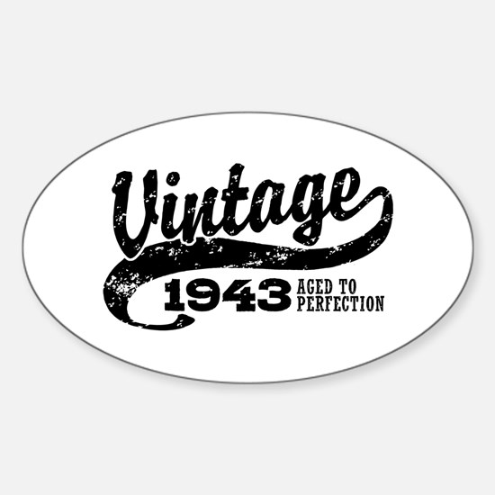 Vintage 1943 Sticker (Oval)