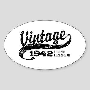 Vintage 1942 Sticker (Oval)