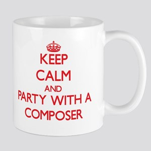 Keep Calm and Party With a Composer Mugs