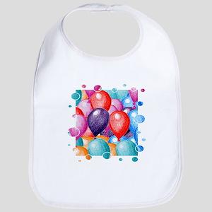 Birthday Balloons Bib