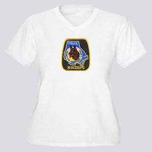 Baltimore Police K-9 Women's Plus Size V-Neck T-Sh