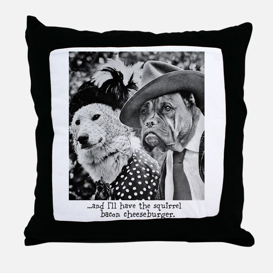 Aristocrat Dogs Throw Pillow