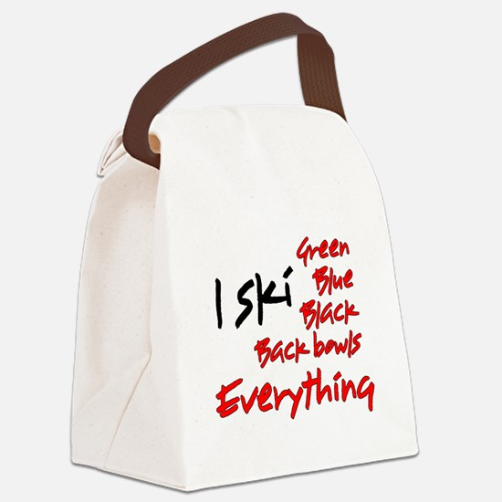 I Ski Canvas Lunch Bag