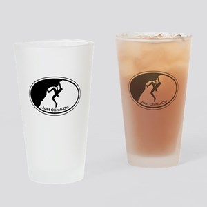 Just Climb On Classic Oval Drinking Glass