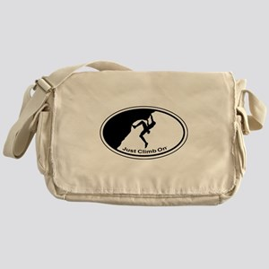 Just Climb On Classic Oval Messenger Bag