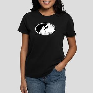 Just Climb On Classic Oval Women's Dark T-Shirt