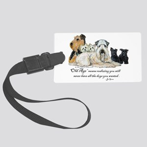 Love Dogs Large Luggage Tag