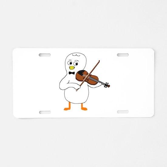 Violinist Aluminum License Plate