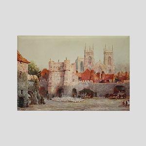 York, England Landscape in Waterc Rectangle Magnet