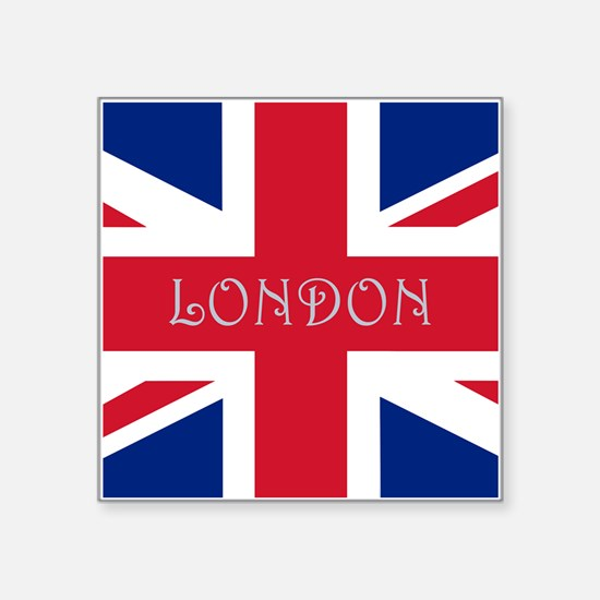 "London Square Sticker 3"" X 3"""