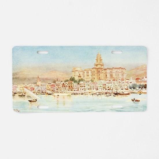 Malaga, Spain - Seaside Vie Aluminum License Plate