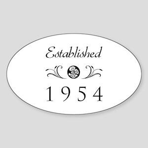Established 1954 Sticker (Oval)