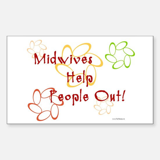 Midwives Rectangle Decal