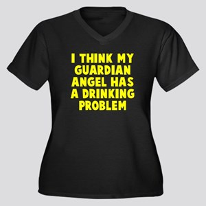 Guardian Ang Women's Plus Size V-Neck Dark T-Shirt