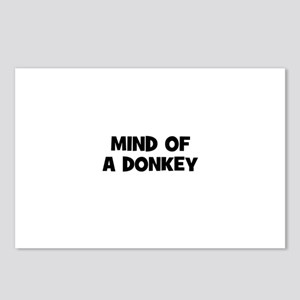 mind of a donkey Postcards (Package of 8)