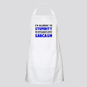 Allergic to stupidity Apron