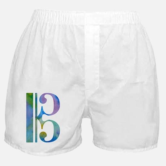 Funny Alto clef Boxer Shorts