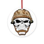 Army Skeleton Ornament (Round)