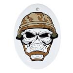 Army Skeleton Ornament (Oval)