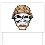 Army Skeleton Yard Sign