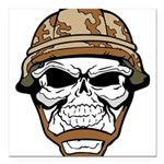 Army Skeleton Square Car Magnet 3