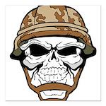 Army Skeleton Square Car Magnet 3