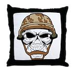 Army Skeleton Throw Pillow