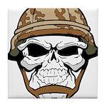 Army Skeleton Tile Coaster