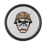 Army Skeleton Large Wall Clock