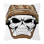 Army Skeleton Woven Throw Pillow