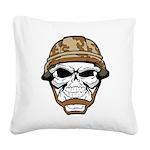 Army Skeleton Square Canvas Pillow