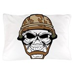 Army Skeleton Pillow Case