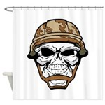 Army Skeleton Shower Curtain