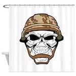 Army Skeleton Shower Curtain
