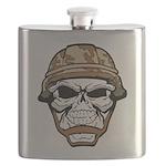 Army Skeleton Flask