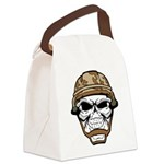 Army Skeleton Canvas Lunch Bag