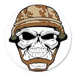 Army Skeleton Round Car Magnet